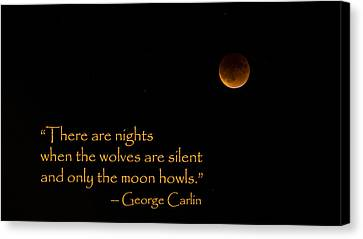 Howling Moon Canvas Print by Stephen Stookey