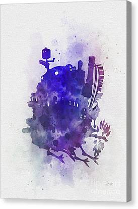 Howl's Moving Castle Canvas Print by Rebecca Jenkins