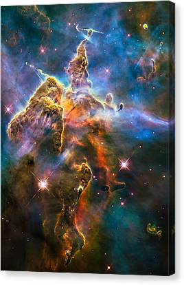 Hubble Captures View Of Mystic Mountain Canvas Print by Marco Oliveira