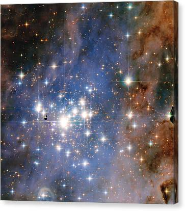 Hubble Unveils A Tapestry Of Dazzling Diamond-like Stars Canvas Print by Nasa