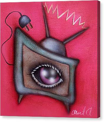 Human Tv Canvas Print by  Abril Andrade Griffith