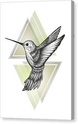 Hummingbird Canvas Print by Barlena