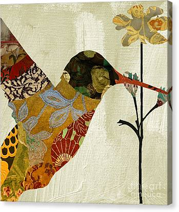 Hummingbird Brocade IIi Canvas Print by Mindy Sommers