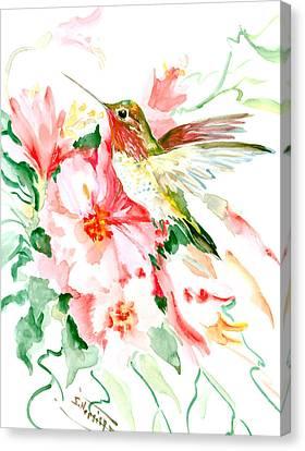 Hummingbird Hawaii Canvas Print by Suren Nersisyan