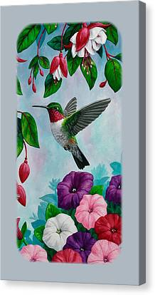 Hummingbird Phone Case V Canvas Print by Crista Forest