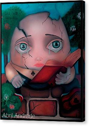 Humpty Dumpty Canvas Print by  Abril Andrade Griffith