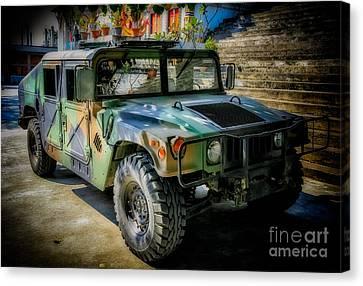 Humvee Canvas Print by Adrian Evans