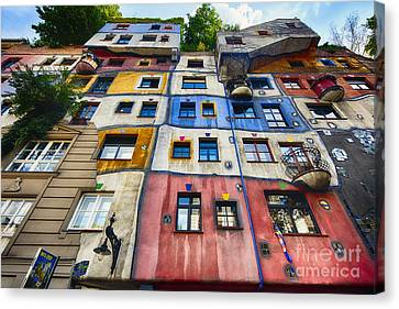 Hundertwasser House II Canvas Print by George Oze