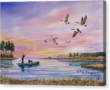 Hunter Heads Home Canvas Print by Raymond Edmonds