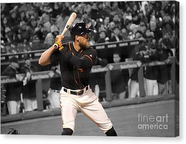 Hunter Pence Canvas Print by Erik Dunn