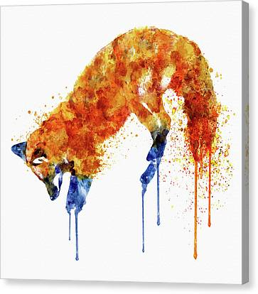 Hunting Fox  Canvas Print by Marian Voicu