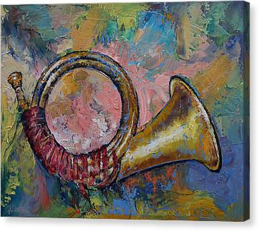 Hunting Horn Canvas Print by Michael Creese