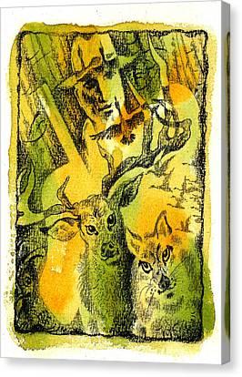 Hunting Canvas Print by Leon Zernitsky