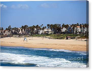 Huntington Beach California Canvas Print by Paul Velgos
