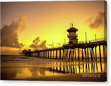 Huntington Beach Pier Canvas Print by Phong Trinh