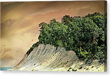 Huntington Beachscape Canvas Print by Diana Angstadt