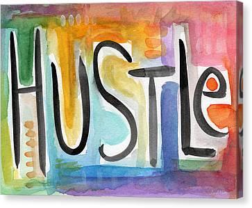 Hustle- Art By Linda Woods Canvas Print by Linda Woods