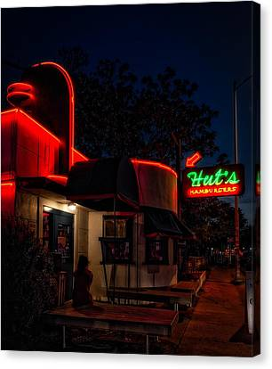 Hut's Hamburgers Of Austin Canvas Print by Mountain Dreams
