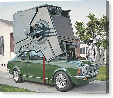 Hybrid Vehicle Canvas Print by Scott Listfield