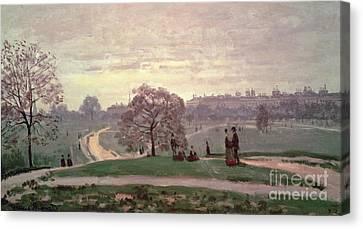 Hyde Park Canvas Print by Claude Monet