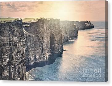 Hymn Of The Cliffs Canvas Print by Evelina Kremsdorf