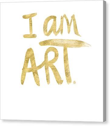 I Am Art Gold - Art By Linda Woods Canvas Print by Linda Woods