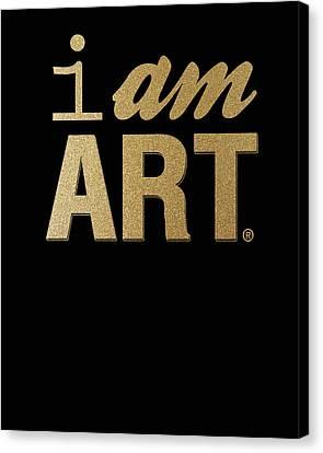 I Am Art- Gold Canvas Print by Linda Woods