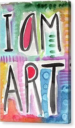 I Am Art Canvas Print by Linda Woods