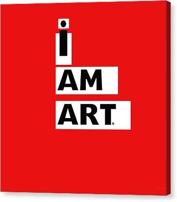 I Am Art Stripes- Design By Linda Woods Canvas Print by Linda Woods