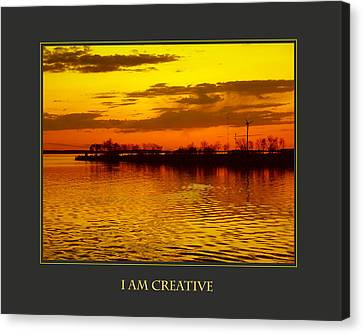 I Am Creative Canvas Print by Donna Corless