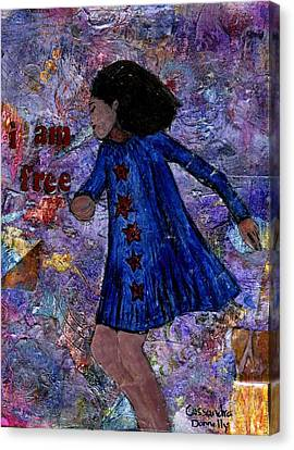 I Am Free Canvas Print by Cassandra Donnelly