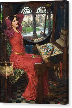 I Am Half Sick Of Shadows Said The Lady Of Shalott Canvas Print by John William Waterhouse