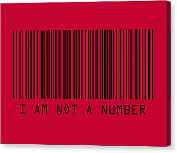 I Am Not A Number Canvas Print by Michael Tompsett