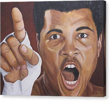 I Am The Greatest 2 Canvas Print by Kenneth Kelsoe