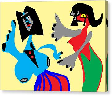 I Can Dance Like Picasso Canvas Print by International Artist Brent Litsey