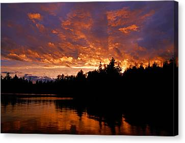 I Have Seen Rain And I Have Seen Fire Canvas Print by Larry Ricker