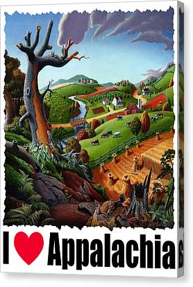I Love Appalachia - Appalachian Wheat Field Harvest Rural Landscape Canvas Print by Walt Curlee