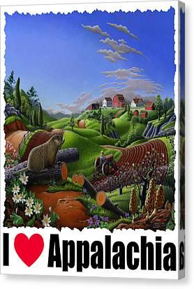 I Love Appalachia - Spring Groundhog Canvas Print by Walt Curlee