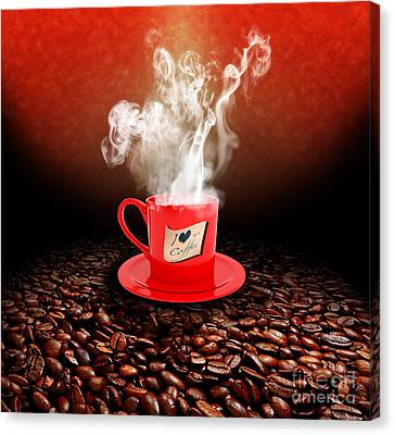 I Love Coffee Canvas Print by Stefano Senise