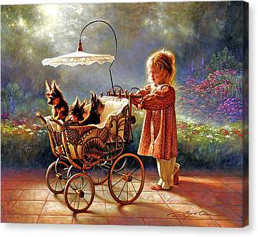 I Love New Yorkies Canvas Print by Greg Olsen