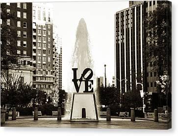 I Love Philadelphia Canvas Print by Bill Cannon