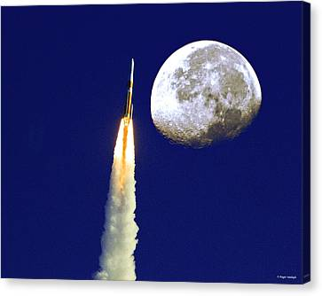I Need My Space Canvas Print by Roger Wedegis
