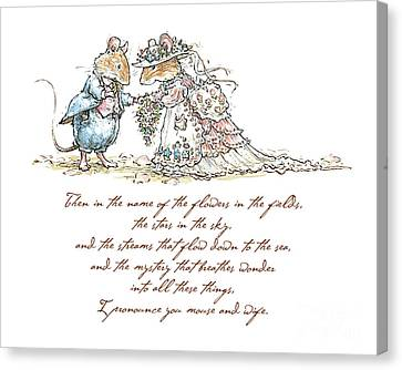 I Pronounce You Mouse And Wife Canvas Print by Brambly Hedge