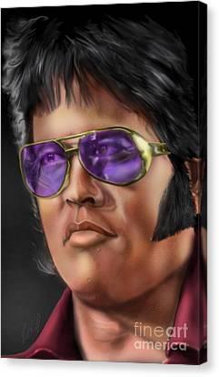 I Remember Elvis Canvas Print by Reggie Duffie