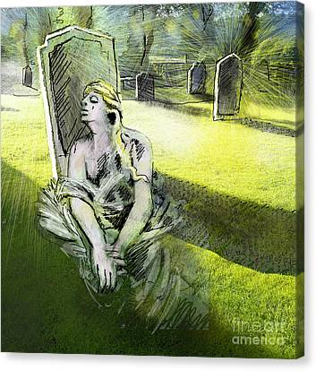 I Wish You Were Here Canvas Print by Miki De Goodaboom