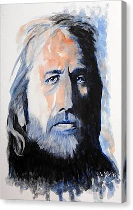 I Won't Back Down - Tom Petty Canvas Print by William Walts