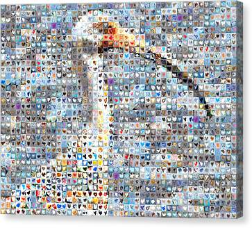 Ibis Canvas Print by Boy Sees Hearts