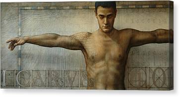 Icarus 4.0 Canvas Print by Jose Luis Munoz Luque