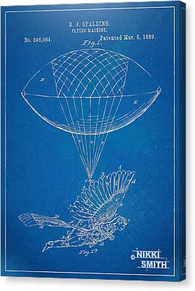Icarus Airborn Patent Artwork Canvas Print by Nikki Marie Smith