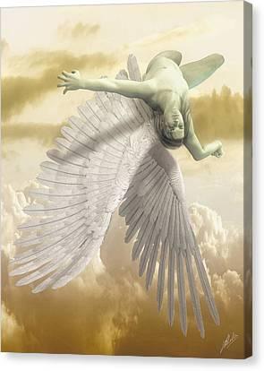 Icarus Myth Canvas Print by Quim Abella